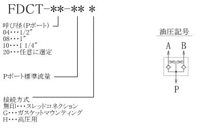 FDCT形 型式表示法・油圧記号